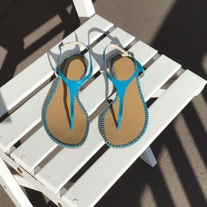 Vince Camino teal patent sandals Size 7